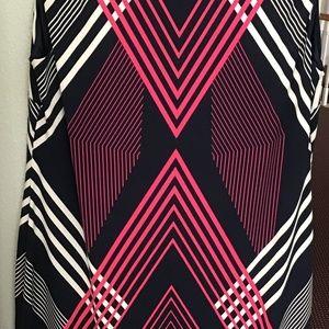 JM Collection Dresses - Jm Collection Chain-Link-Trim Shift Dress, Size L